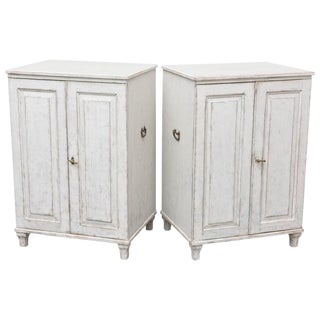 Pair of Antique Swedish Painted Cabinets Late 19th Century
