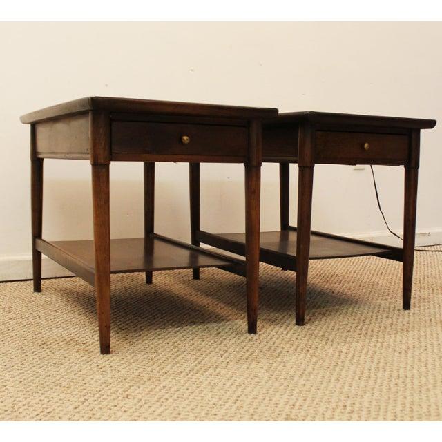 Mid-Century Danish Modern Walnut Side Tables - A Pair - Image 2 of 11