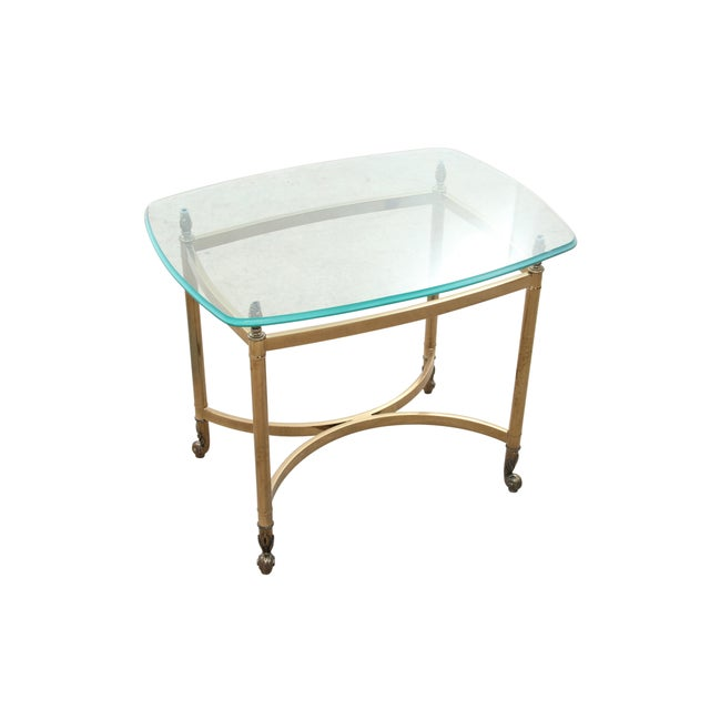 Maison Jansen Attributed Brass & Glass Table - Image 2 of 4