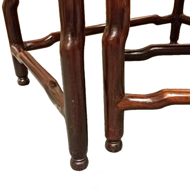 Asian 1900s Chinese Carved Hardwood Nesting Tables - Set of 4 For Sale - Image 3 of 6