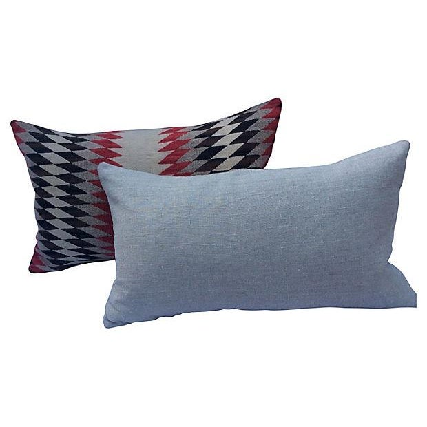 Native American Weaving Pillows- A Pair - Image 4 of 4