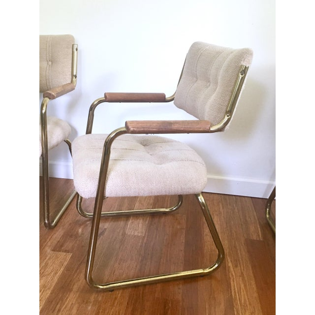 Vintage Brass Dining or Side Chairs - Set of 4 - Image 3 of 11