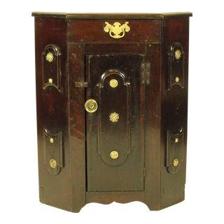 19th-C. American Corner Cabinet For Sale