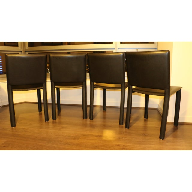 Room and Board Madrid Leather Chairs- Set of 4 For Sale - Image 5 of 6