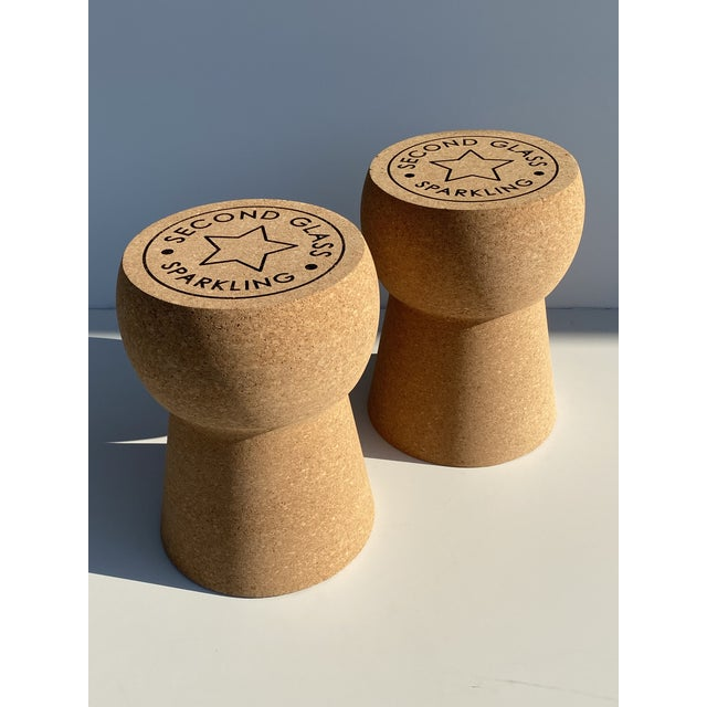 Champagne Cork Stool/Side Table For Sale - Image 10 of 13