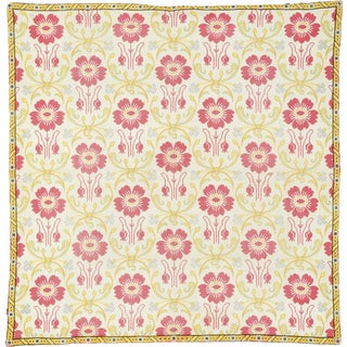 Antique Needlepoint Rug- 4′7″ × 4′8″ For Sale