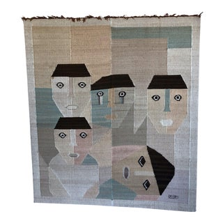 """Masks"" Large Weaving by Saturnino Oncebay For Sale"