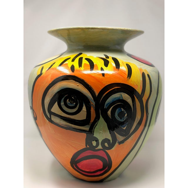 "Clay 1980s Abstract ""Sculpture Vase"" by Peter Keil For Sale - Image 7 of 7"