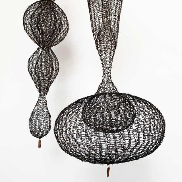 d'Lisa Creager Woven Wire Hanging Sculpture For Sale In Chicago - Image 6 of 11