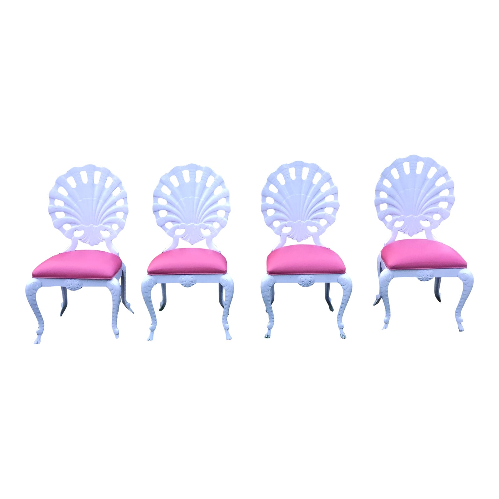 Vintage Pink Amp White Aluminum Patio Chairs Set Of 4