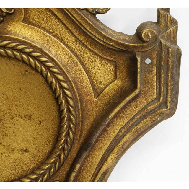 Gold Federal Style Gold Sconces - A Pair For Sale - Image 8 of 9