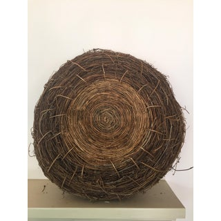 1980s Country Handwoven Natural Bird Nest Basket Sculpture Preview