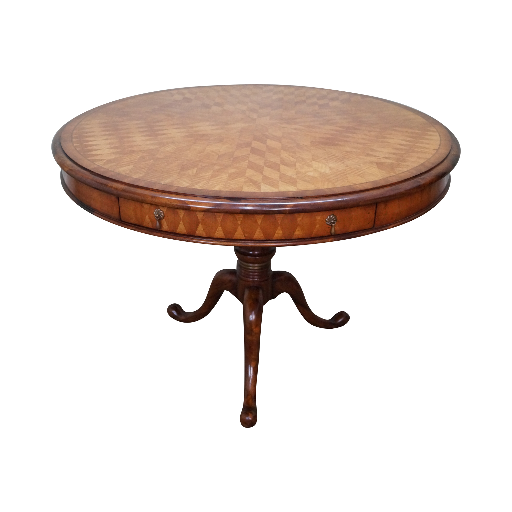 Jonathan Charles Herringbone Parquet Inlaid Table