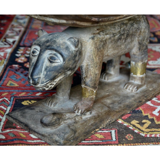 1920s African Ashanti Leopard Stool For Sale - Image 5 of 10