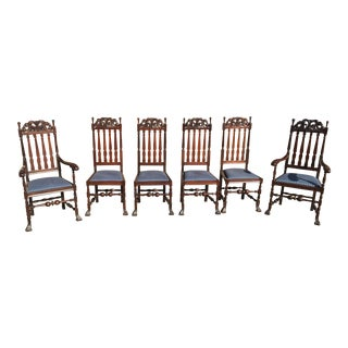 Dutch Baroque Dining Chairs with Spanish Feet - Set of 6 For Sale