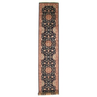 "Pasargad N Y Pak Persian Tabriz Design Hand-Knotted Rug - 2'7"" X 14'"