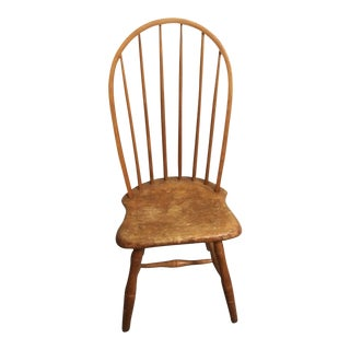 Early 19th Century Plank Bottom Hoop Back Windsor Lady's Chair For Sale