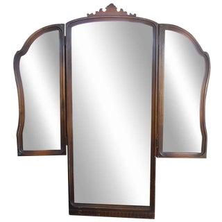 Tri Fold Dresser Vanity Mirror For Sale