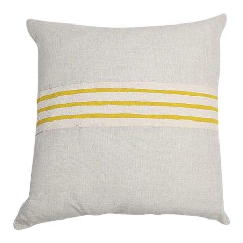 Modern Erin Flett Linen Pillow With Trim - Image 1 of 3
