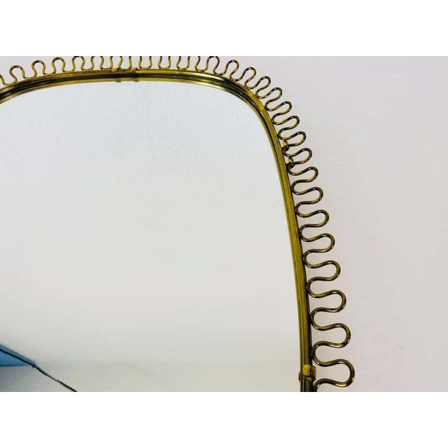 Metal Italian Brass Framed Wall Mirror, 1960s, Italy For Sale - Image 7 of 11