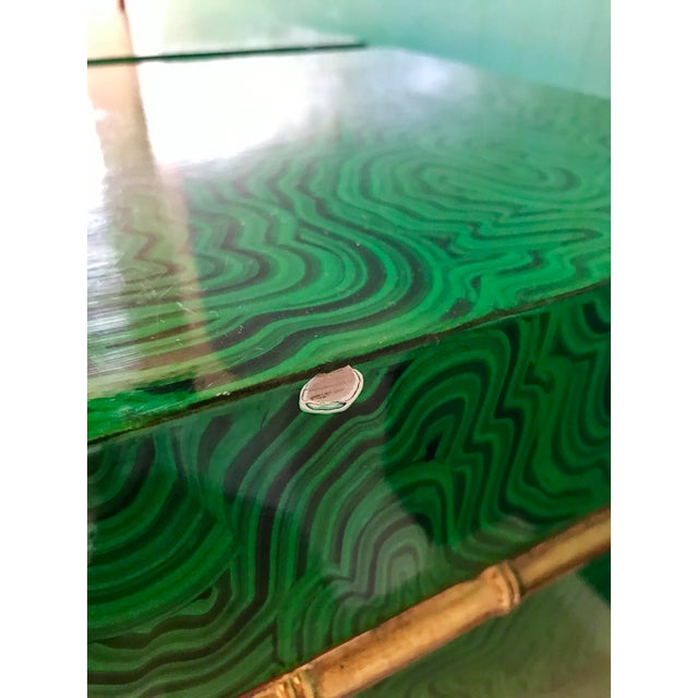 Faux Malachite Boxes - a Pair For Sale - Image 9 of 11