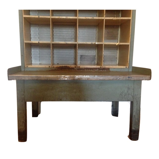 Vintage Industrial Post Office Sorting Cubby For Sale In New York - Image 6 of 6