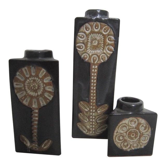 Mid-Century Studio Pottery Vases - Set of 3 - Image 1 of 3