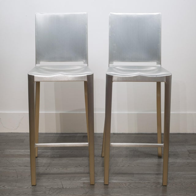 Set of 4 Emeco Hudson Counter Stools by Philippe Starck For Sale - Image 4 of 10