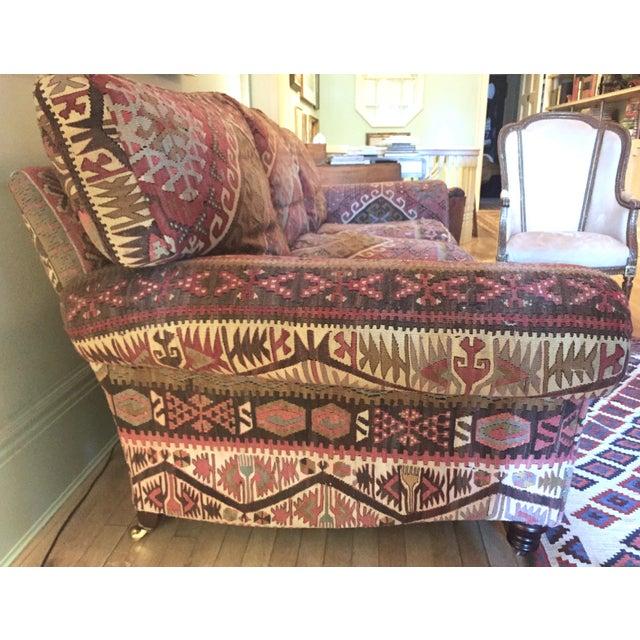 English Traditional George Smith 8-Foot Kilim Sofa For Sale - Image 3 of 12