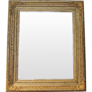 19th Century German Ripple Carved Gilded Mirror - Image 7 of 7