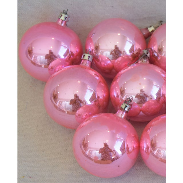 Pink Vintage Colorful Christmas Ornaments W/Box - Set of 12 For Sale - Image 4 of 8