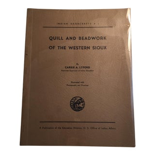 Quill & Beadwork of the Western Sioux Book For Sale