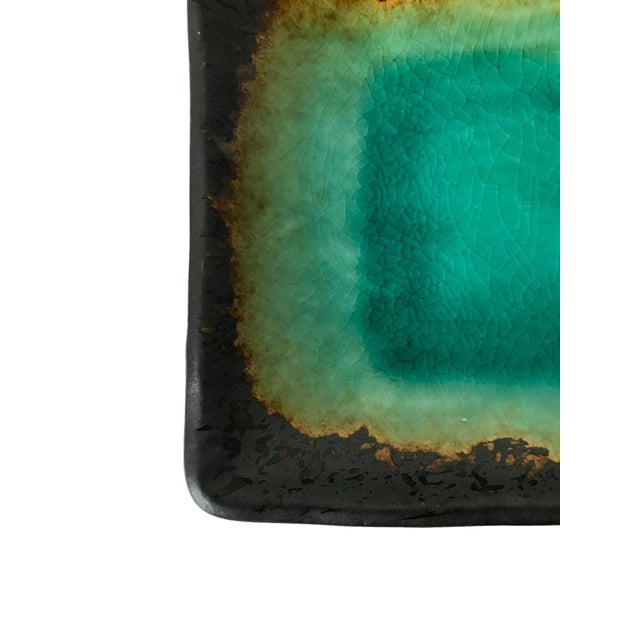 Turquoise Crackled Catchall Tray - Image 3 of 5