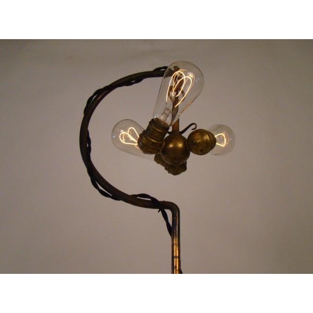 Antique Victorian Cast Iron Adjustable Floor Lamp - Image 4 of 11