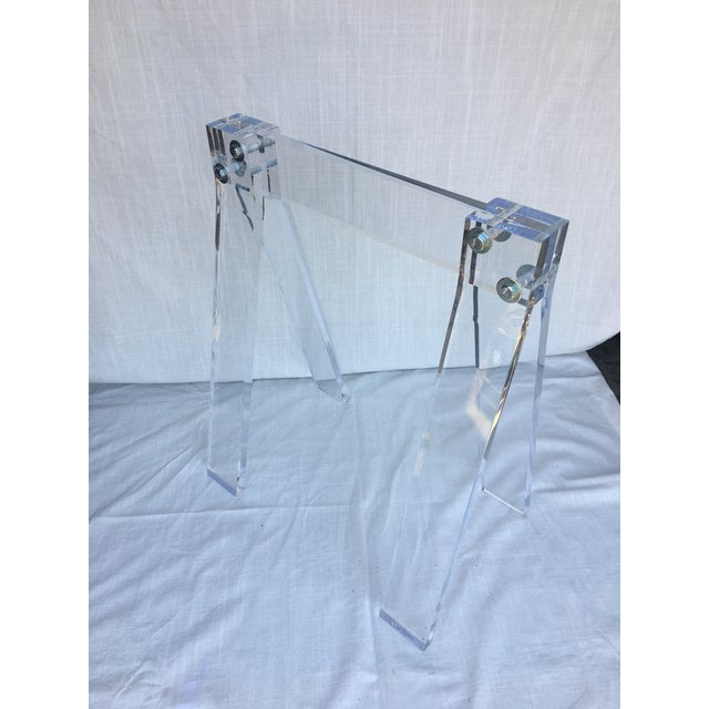 Mid Century Lucite Blanket Rack Saw Horse For Sale - Image 13 of 13