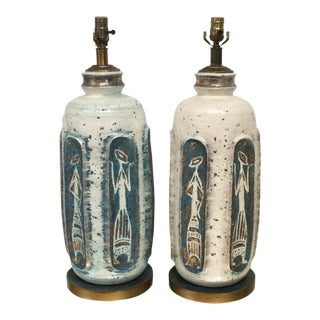 Tye of California Pottery Table Lamps 1950s - a Pair For Sale