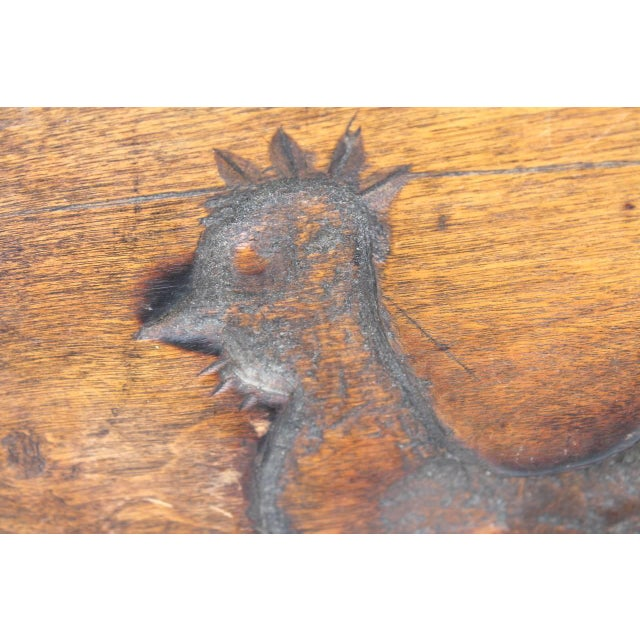 Hand-Carved Early 19th Century Folky Wood Rooster Mold - Image 2 of 6