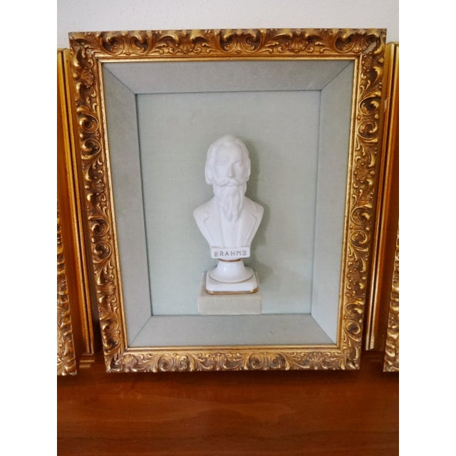 Framed Bust Portraits of Classical Composers - Set of 3 For Sale - Image 4 of 13