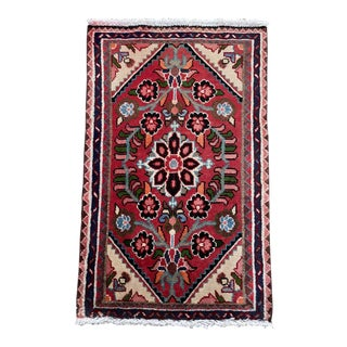 Vintage Persian Throw Accent Rug- 1′12″ × 2′12″ For Sale