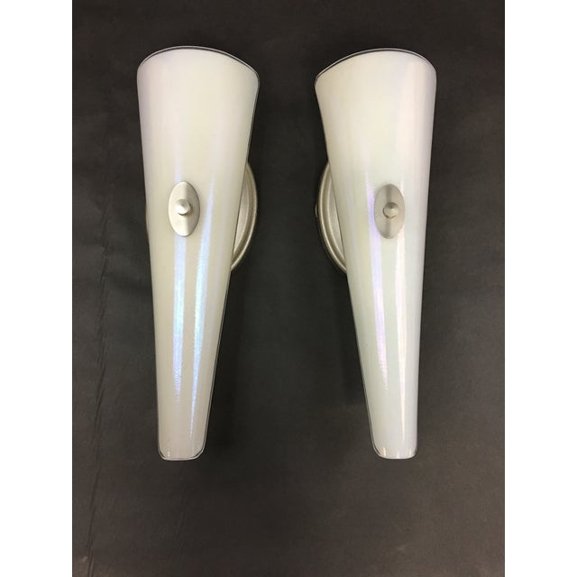 Neidhardt Wall Sconces With Hand Blown Glass Shades - a Pair For Sale - Image 9 of 9