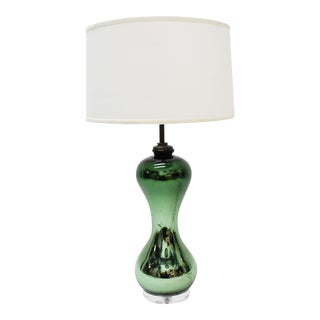 Mid-Century Mercury Glass Lamp For Sale