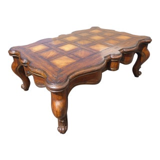 Vintage French Country Coffee Table For Sale