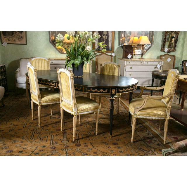 Maison Jansen Ebonized Dining Table W. Letter of Authentication. For Sale - Image 10 of 10
