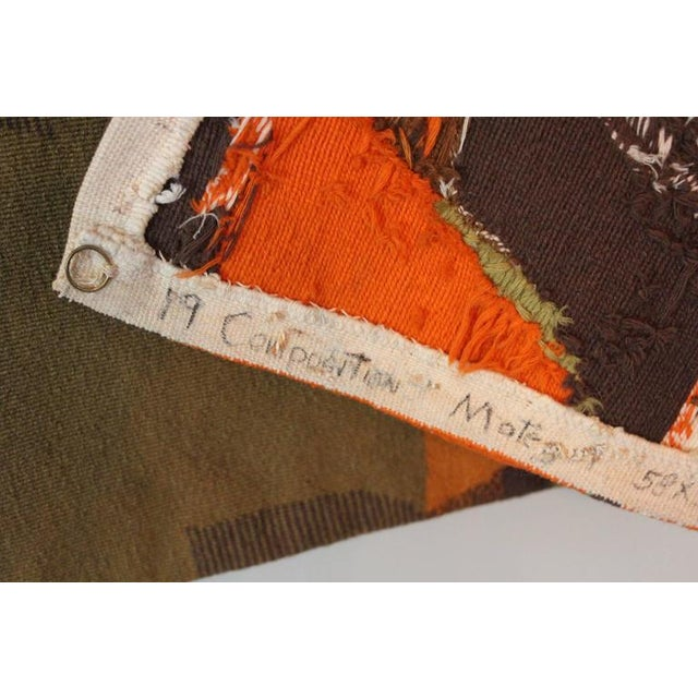 """Mathieu Matégot Tapestry Titled """"19 Composition"""" For Sale - Image 10 of 10"""