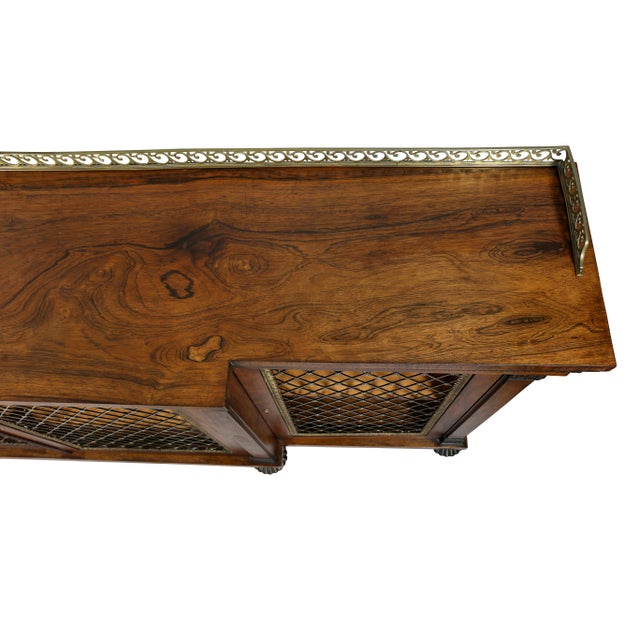 Early 19th Century Regency Rosewood, Ebonized and Bronze Mounted Credenza or Cabinet For Sale - Image 5 of 13