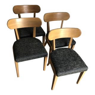 Vintage Mid Century Modern Dining Chairs by Edward Wormley for Precedent Drexel - Set of 4 For Sale