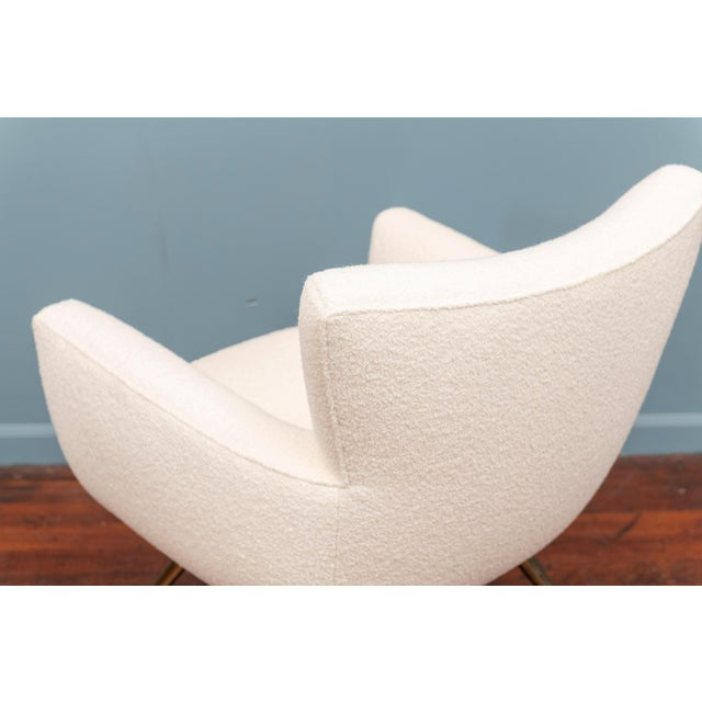 White Mid-Century Modern Lounge Chair by Henry Glass For Sale - Image 8 of 9