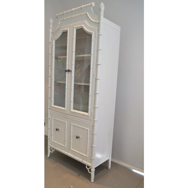 Thomasville Bamboo Style Armoire - Image 3 of 5
