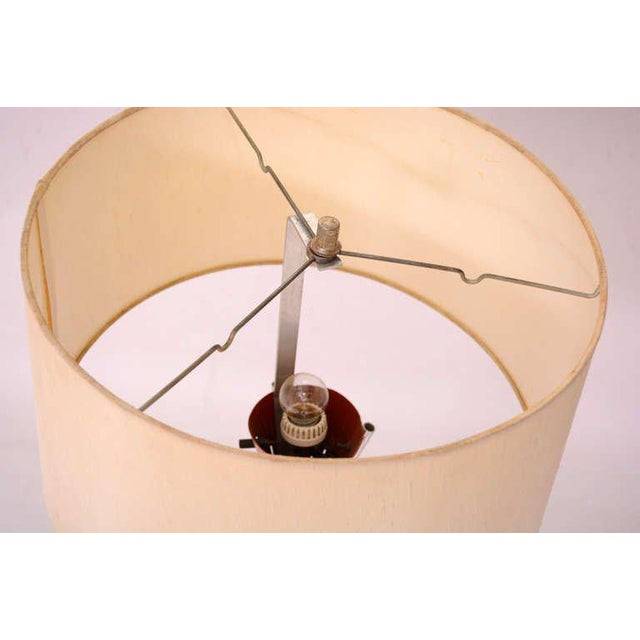 Aluminum Mid Century Modern Tripod Floor Lamp For Sale - Image 7 of 9