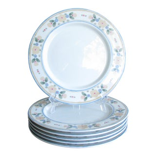 1970s Bob Van Allen for Mikasa Town & Country Dinner Plates - Set of 6 For Sale